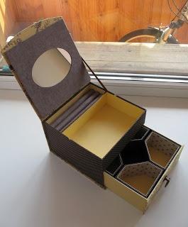 ШКАТУЛОЧКА ДЛЯ НАТАЛИ: Картонаж  caixinha de joia com espelho