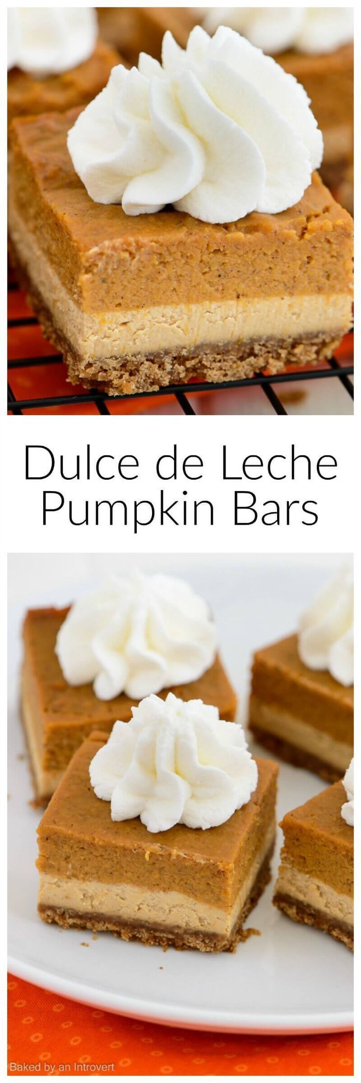 This recipe for Dulce de Leche Pumpkin Bars gives you the flavor of a ...