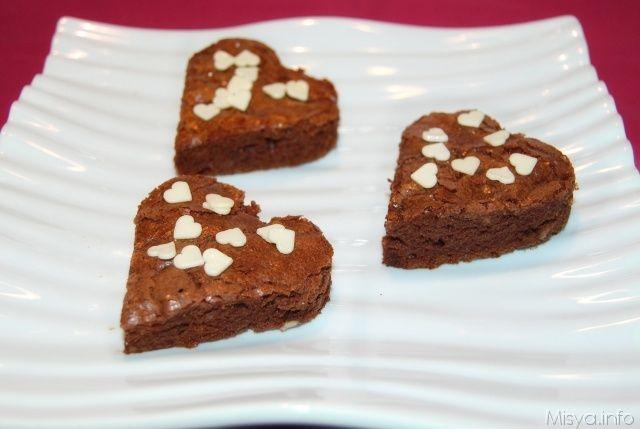 brownies a cuore per san valentino