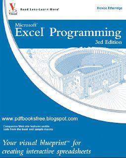 Microsoft Excel Programming Tutorial | Free Pdf Books
