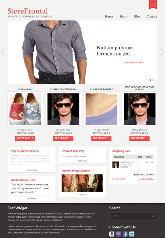 StoreFrontal WordPress Theme By UpThemes