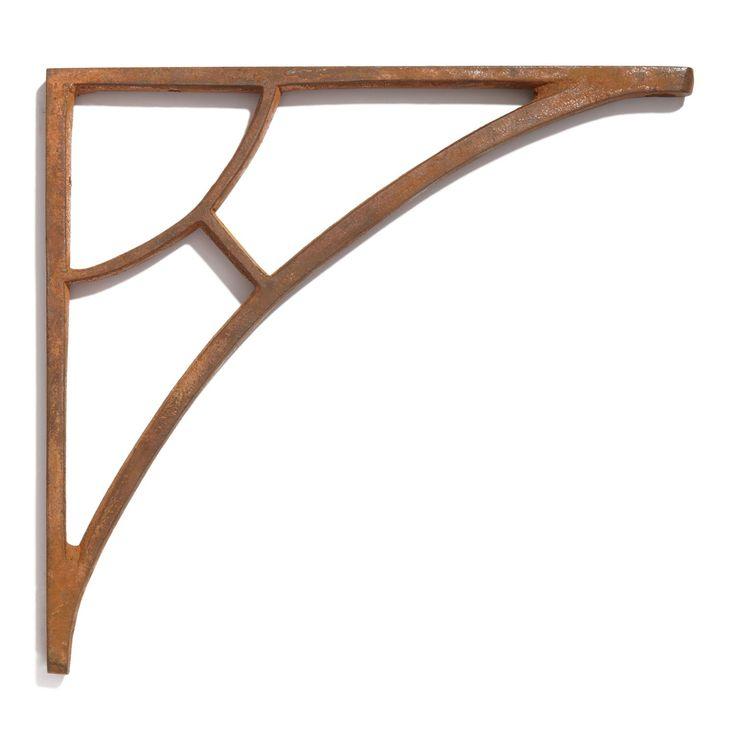 Simple Arch Cast Iron Shelf Bracket, $10 each