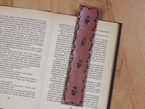 Sugar Cane Bookmark  Candy Cane Leather by TinasLeatherCrafts. RepinTo Remember.