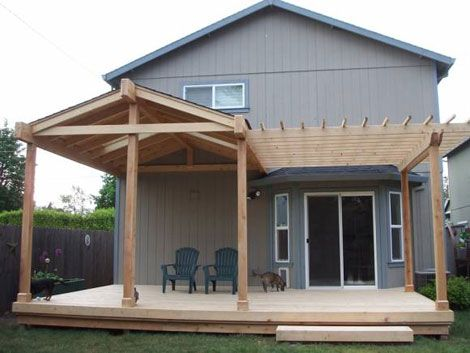 Small solid patio cover. AJ has a lot of work to do next Spring !
