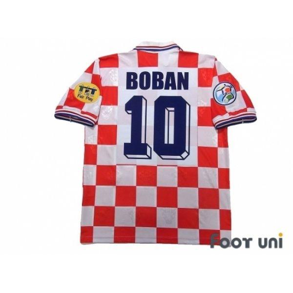 Croatia Euro 1996 Home Shirt 10 Boban UEFA Euro 1996