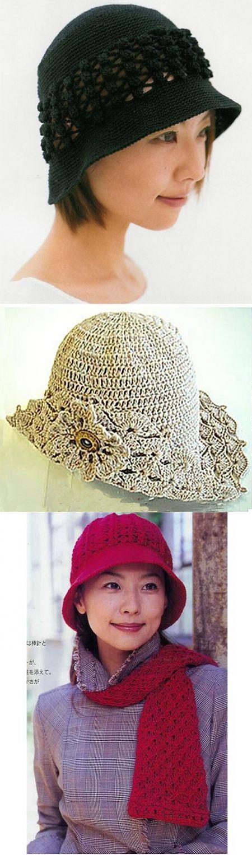 летние шляпки крючком,вязание крючком шляпок,шляпки крючком схемы