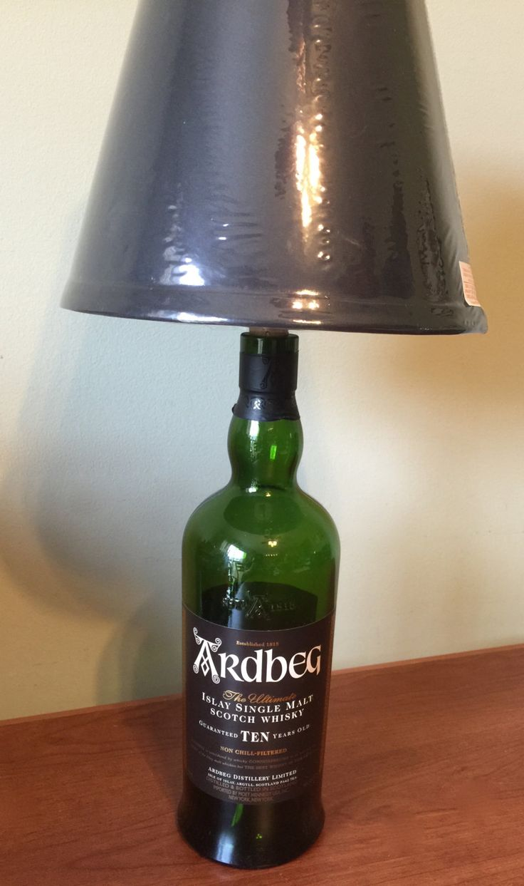 Small table lamps - Ardbeg Scotch Whiskey Bottle Table Lamp Light Small Table Lamp Glass Table Lamp