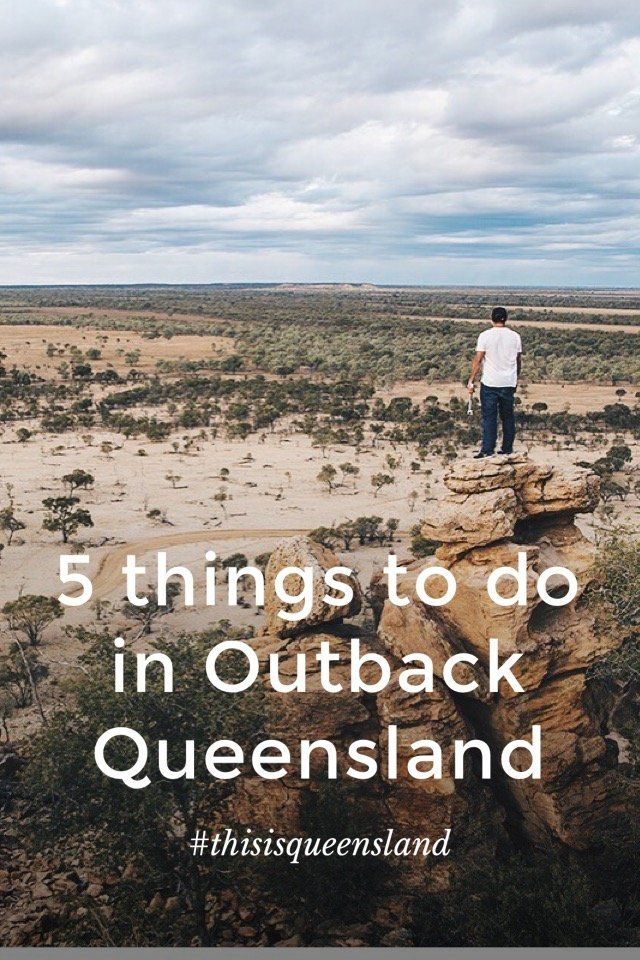 5 things to do in Outback Queensland #thisisqueensland Contrary to what you might think, Outback Queensland isn't all about cowboys and red dirt. From dinosaurs to drag racing, a trip to the outback can be full of unique experiences that can't be found anywhere