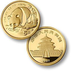 Chinese Gold Panda 1/20th Ounce Auction