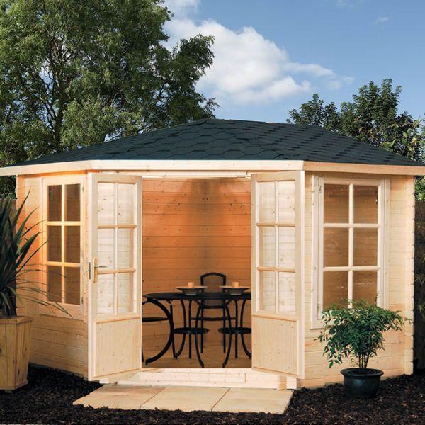 Rowlinson Kestrel Corner Log Cabin -http://www.sheds.co.uk/log-cabins/rowlinson-kestrel-corner-log-cabin.html