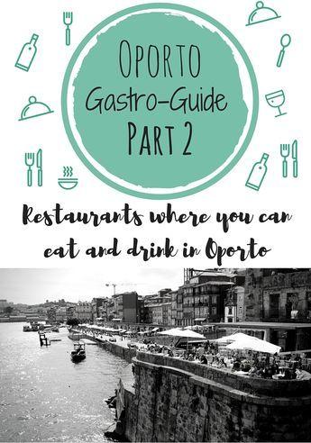 No os podéis perder detalle de este post! en él, encontraréis una guía de Restaurantes Top de Oporto. En lo que a mí respecta, encantada...