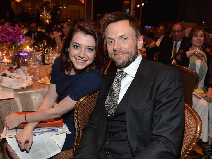 Pin for Later: This Weekend's Must-See Snaps!  On Friday, Joel McHale and Alyson Hannigan chatted at the Taste For a Cure gala in LA.