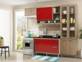 Cozinha Compacta Multimóveis Sicilia com Balcão 9 Portas