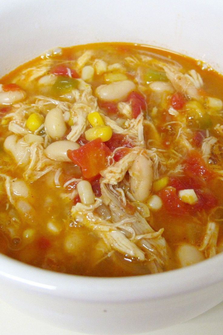 Crockpot white-bean chicken chili. Weight Watchers Recipe- 4 points