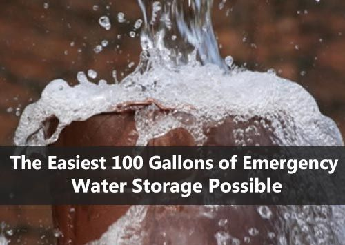 The Easiest 100 Gallons of Emergency Water Storage Possible