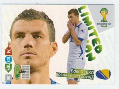 Edin Dzeko Limited Edition Card Panini Adrenalyn XL FIFA World Cup 2014 Brazil Trading Card Game
