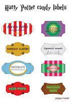 Poppy maakt... Harry Potter geïnspireerde snoep labels knutselplaat. Ga naar…