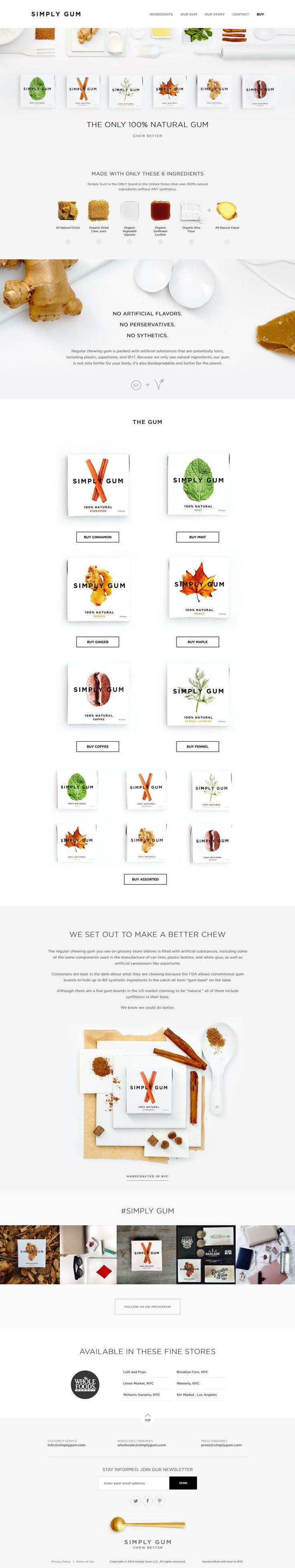 Minimal Design Website. One Page. Ecommerce with external link. #webdesign