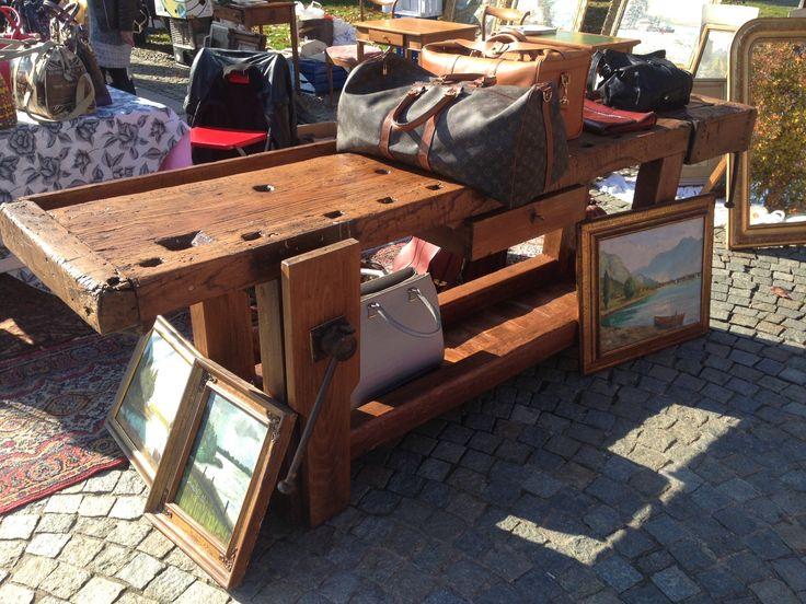 tavolo da falegname restaurato