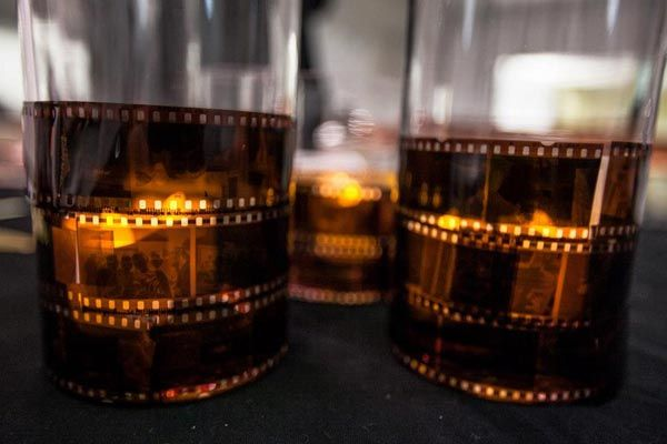7 Easy Oscars Party DIYs from the 2013 #OscarUp | Film Strip Centerpieces