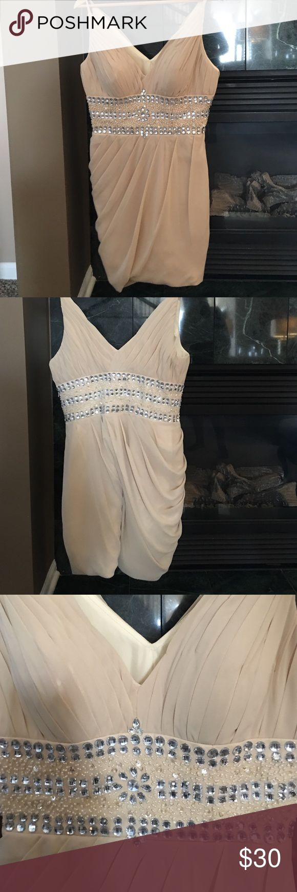 Nude cocktail dress size 8 Nude cocktail dress size 8. New never worn but no tags. Dylan Queen Dresses Midi