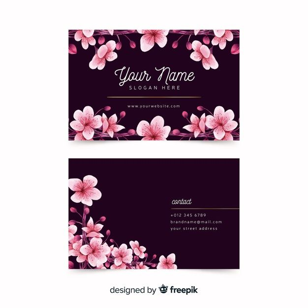 Download Watercolor Floral Business Card Template For Free Floral Business Cards Free Business Card Templates Business Cards Creative
