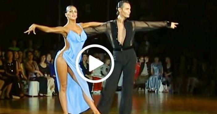 Ξεκίνησαν να χορεύουν, αλλά όταν δείτε το φόρεμα της κοπέλας θα μείνετε με ανοιχτό το στόμα!