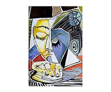 """Reprodukce obrazu """"Tete d'une Femme Lisant"""", 60 x 90 cm"""