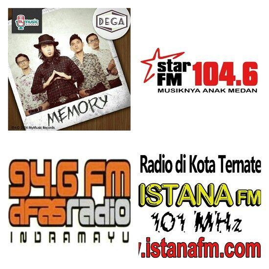 "Tommorow!!! Monday 17 nov 2014 @DEGAofficial live interview by phone at radio:  - Star 104,6FM Medan pukul: 11.00wib - Dfas Indramayu 94,6FM pukul: 13.30wib - Istana Ternate 101MHz pukul: 15.00wib  ""Ternyata Kau Cinta Sahabatku"" #MEMORY"