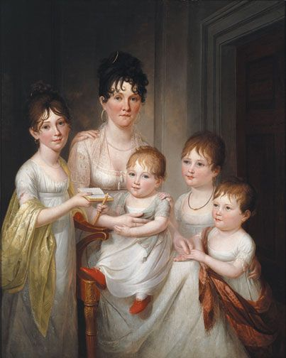 Portrait of Madame Dubocq and Her Children by James Peale, 1807