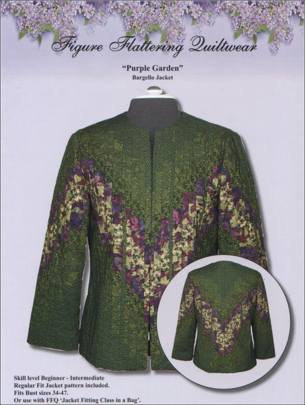 Purple Garden Jacket Pattern--quiltwear