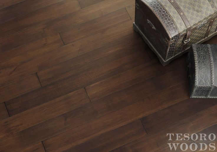 """Rustic, 7"""" engineered maple wood flooring - Brickstone"""