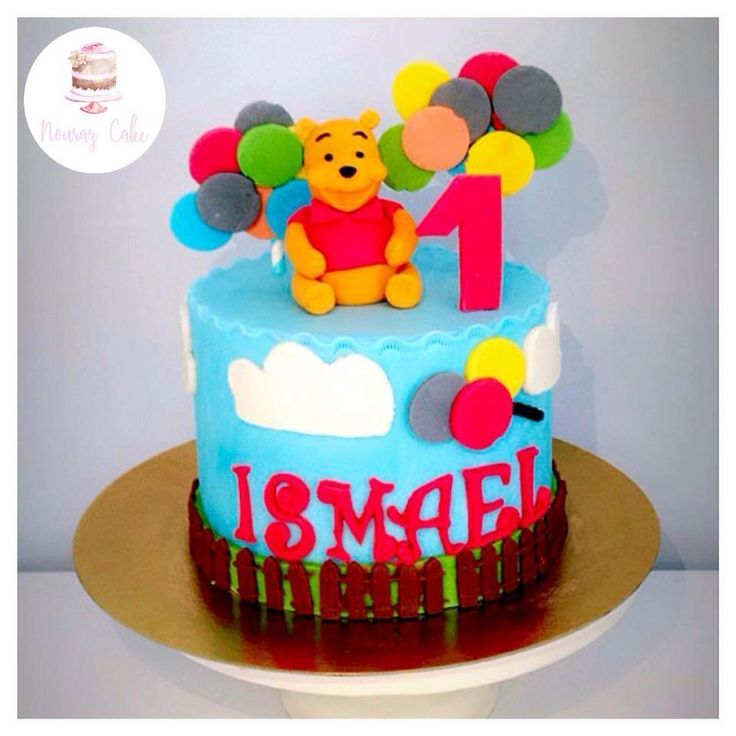 Gâteau Winnie the pooh Winnie l'ourson pour le petit Ismael   Page Facebook nouraz cake Facebook nouraz sayoun Instagram @nourazcake
