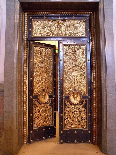 Golden Eyes by Steve J OBrien, via Flickr ~ Golden Doors At St Georges Hall Liverpool