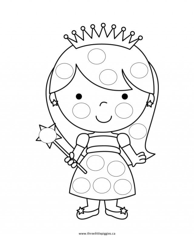 do a dot coloring pages do a dot printables rainbow do a dot - Princess Print Out Coloring Pages