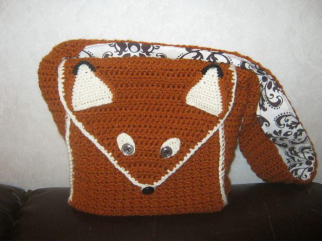 Ravelry: CandidQuilts' Fergus the Fox Messenger Bag
