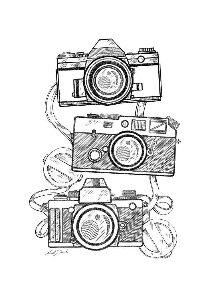 Camera Line Drawing Tattoo : Best ideas about camera drawing on pinterest