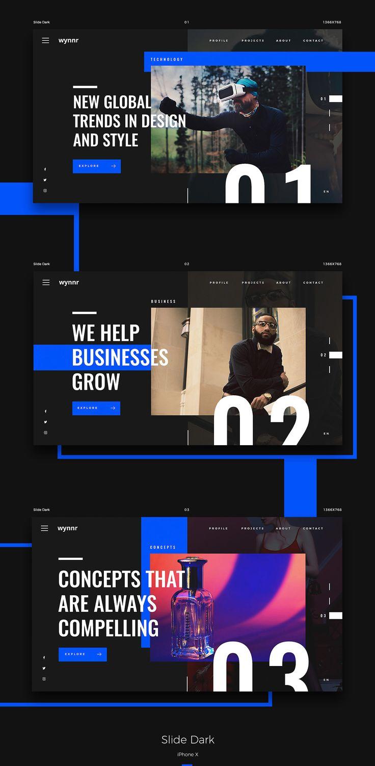 Design Web wynnr 2018 on Behance