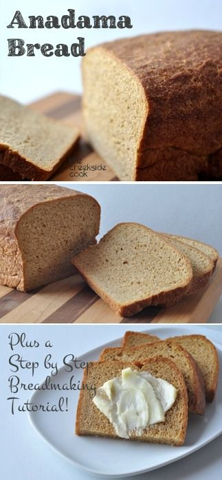 Anadama Bread - Step by Step, Making Yeast Bread - a wonderful bread for novice bread bakers | The Creekside Cook