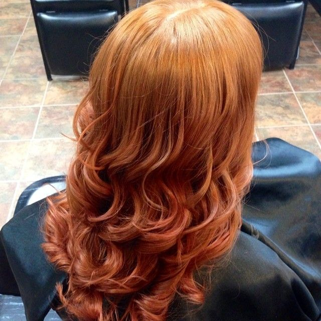 Red Copper Ombre With Chi Ionic Chicolor By Larue Chacha