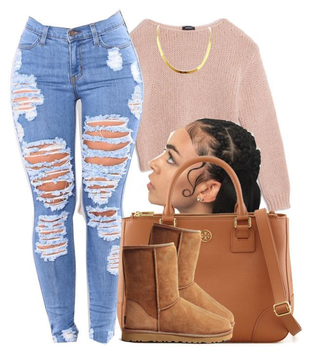 """""""YouTube: @Lightscamerasylvie"""" by trillest-fashion ❤ liked on Polyvore featuring Max&Co., Tory Burch and UGG Australia"""
