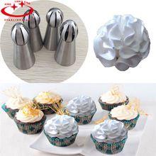 1 Pc 3 Aço Inoxidável Estilo Tocha Russo Bico De Confeiteiro Piping Bicos Para Ferramenta de Decoração Do Bolo de Pastelaria bicos de confeitar inox(China (Mainland))