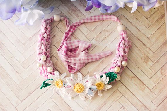 Chunky Statement Blooming Necklace n.001 by BlueberrySodaShop, €20.00