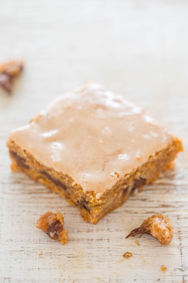 ... The vanilla spiced glaze complements these EASY bars just perfectly