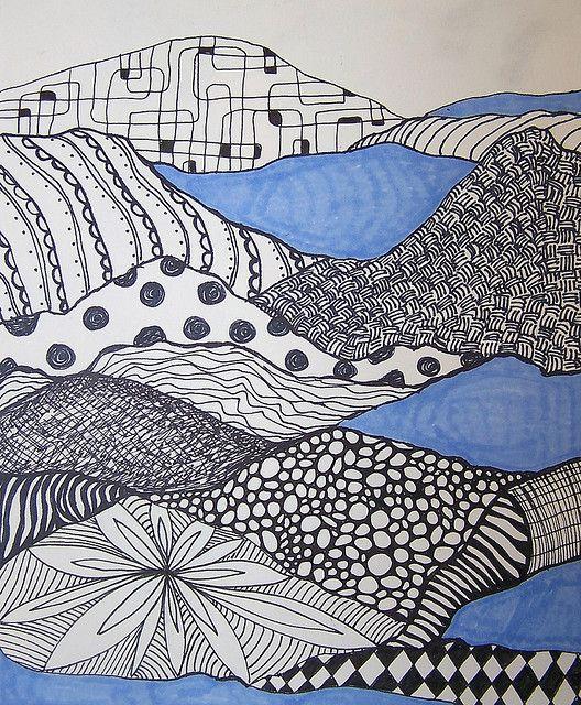 pattern landscapes, possible new 4th grade idea?