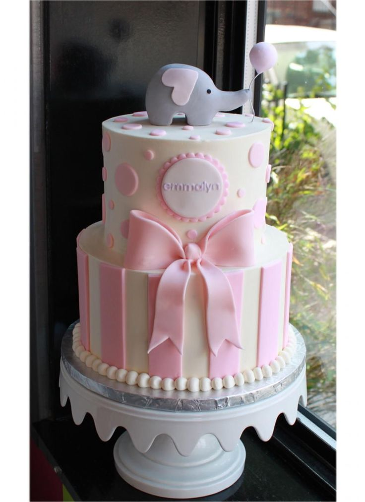 Charming Sweet Elephant Party Cake | Whipped Bakeshop · Elephant Baby Shower ...