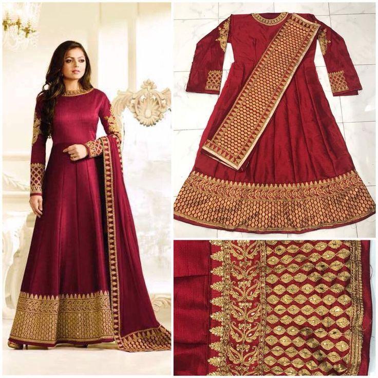 Salwar Pakistani Kameez Indian Designer Suit Anarkali Bollywood Wedding Dress US