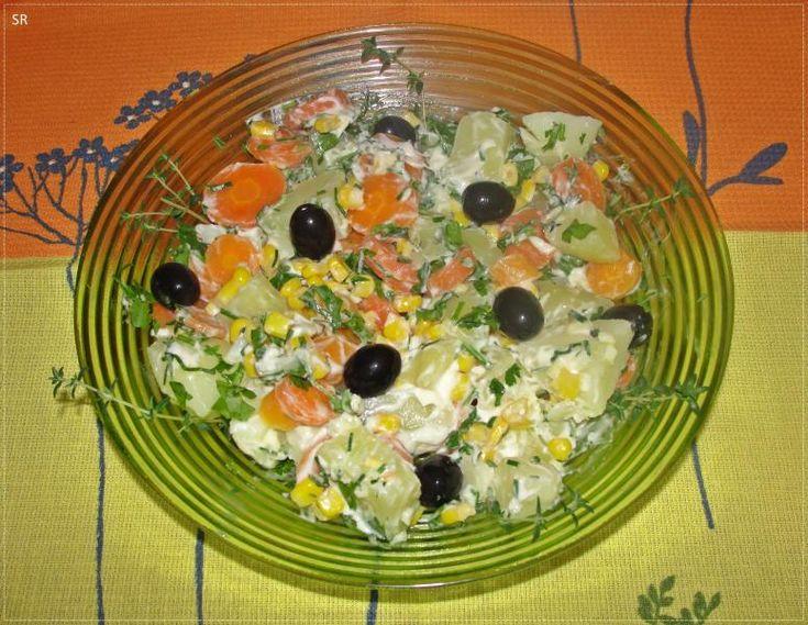 Salada Primavera com Ervas e Maionese