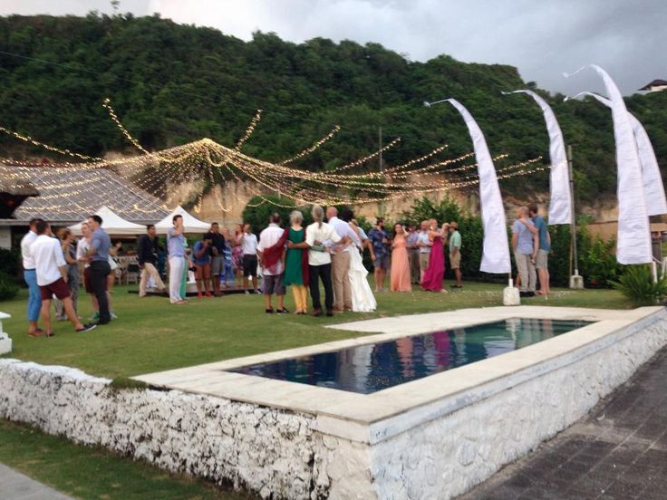 Laid  back ocean view wedding cocktail style  http://www.balibrides.com.au/bali-wedding-packages