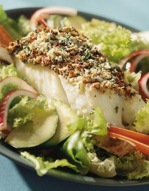 Stekt fisk med sprøtt urtedekke | www.greteroede.no | www.greteroede.no